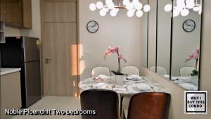 For RentCondoWitthayu,Ploenchit  ,Langsuan : Urgent !!!  For rent: Noble Ploenchit [2 bedrooms], elegant decorated room, very inviting, Built-in furniture, complete appliances.